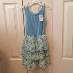 Blue with butterfly dress